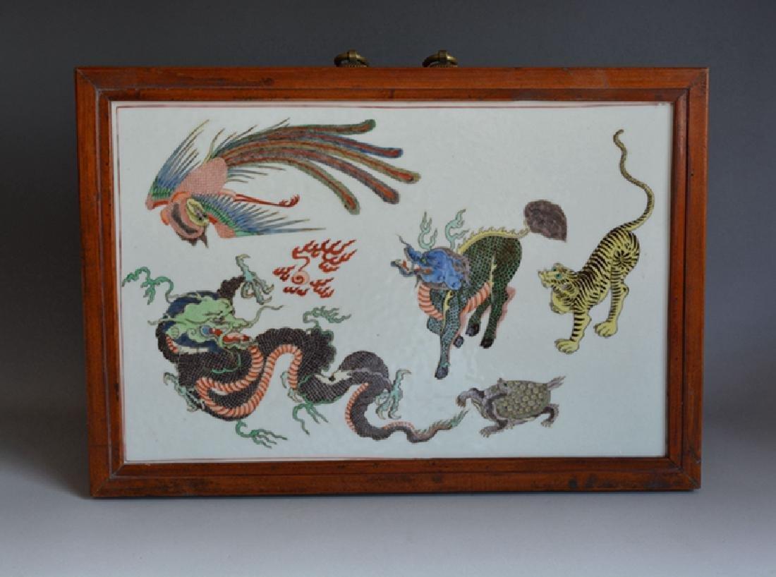 Chinese Porcelain Tile Plaque(5 colors)