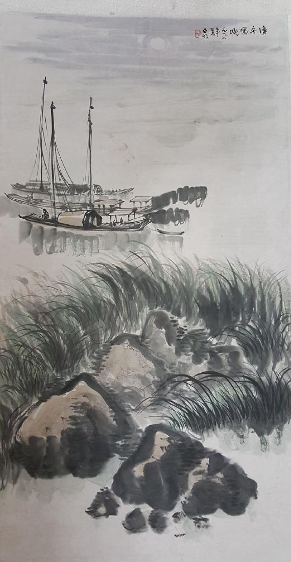Chinese Scroll Painting,Ya Ming(1924-2002)