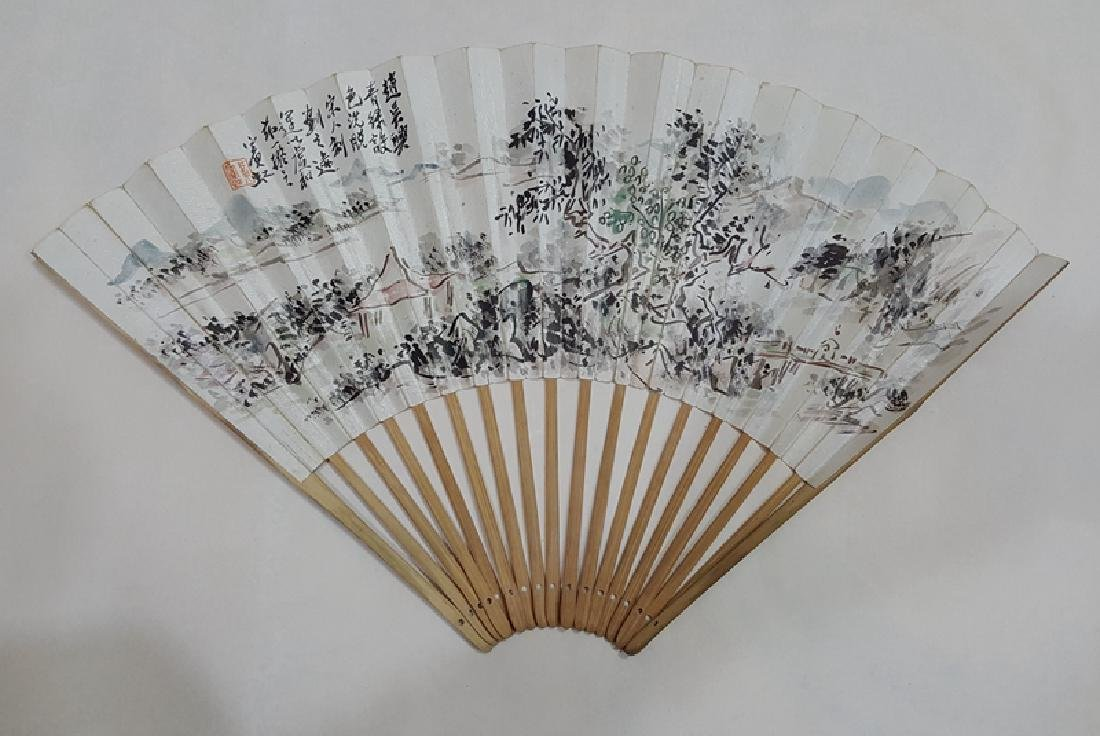 Chinese Fan Painting,Huang Binhong(1865-1955)