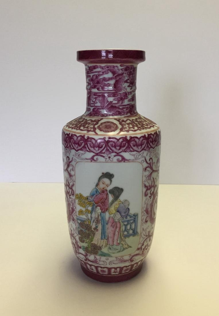 Chinese Porcelain Famille Rose Vase - 2