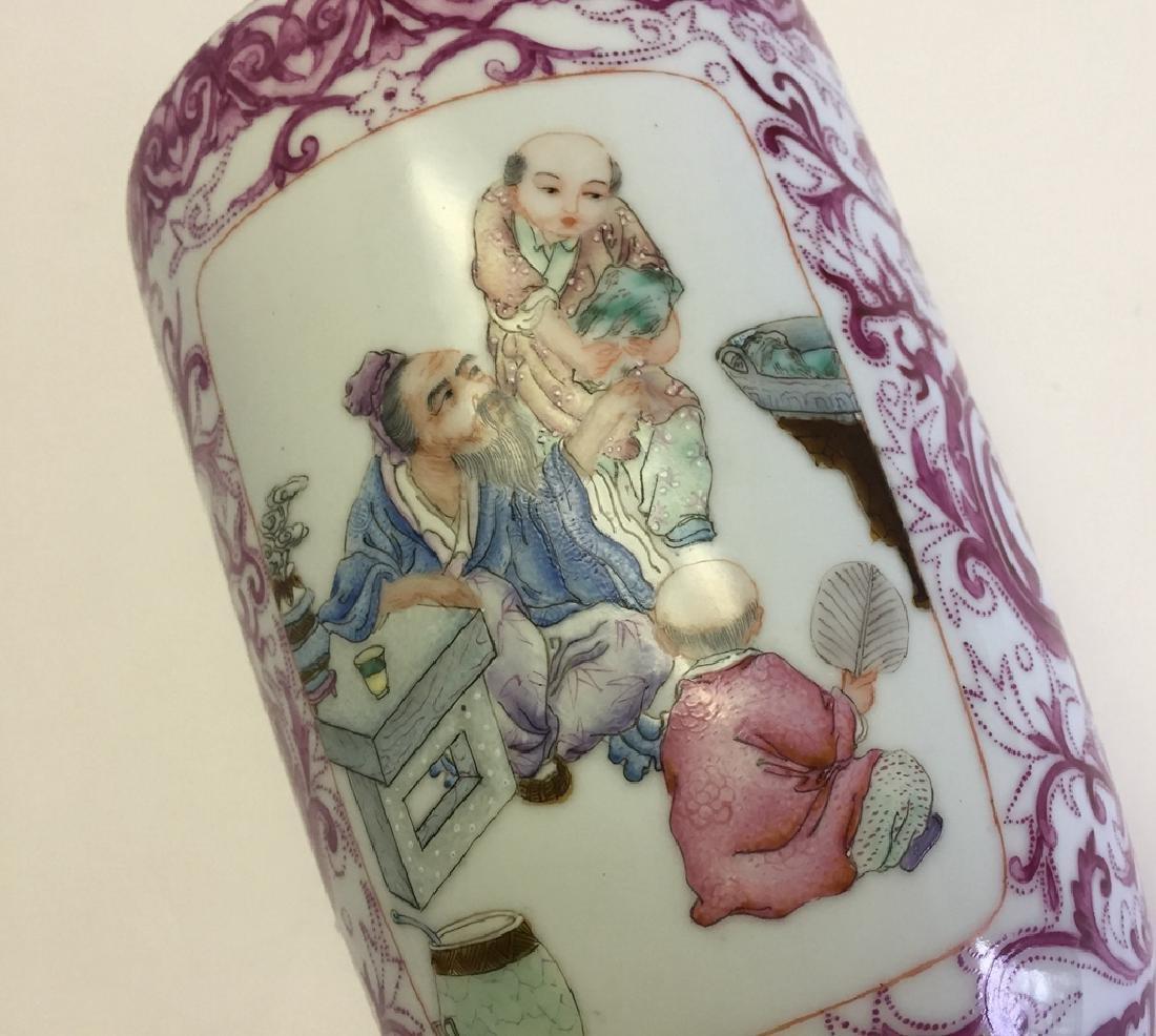 Chinese Porcelain Famille Rose Vase - 4