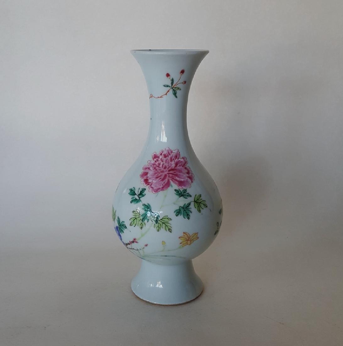 Chinese Famille Rose Porcelain Vase - 3