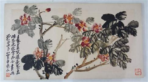 Chinese Albam Painting,Wu Changshuo(1844-1927)