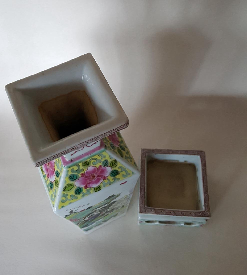 Chinese Porcelain Famille Rose Vase - 5