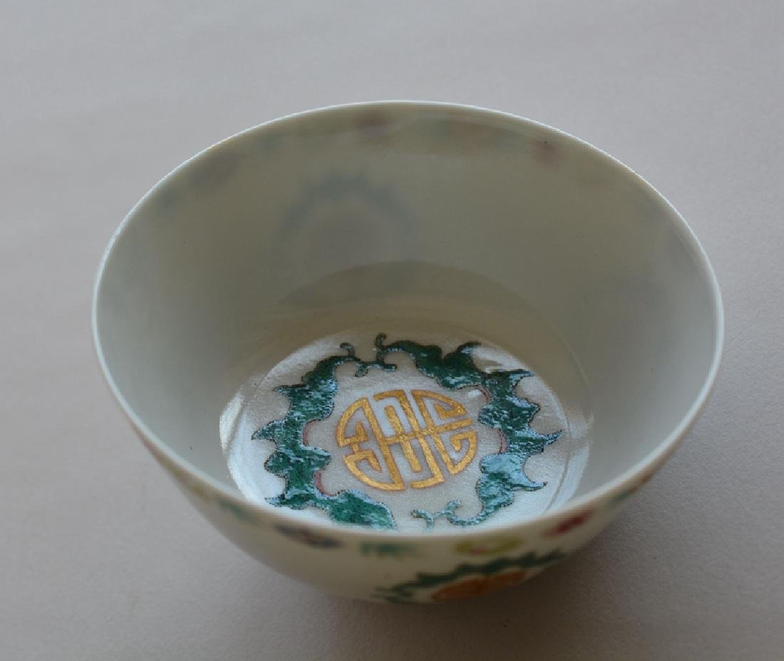 Pair Chinese Famille Rose Porcelain Bowls - 5
