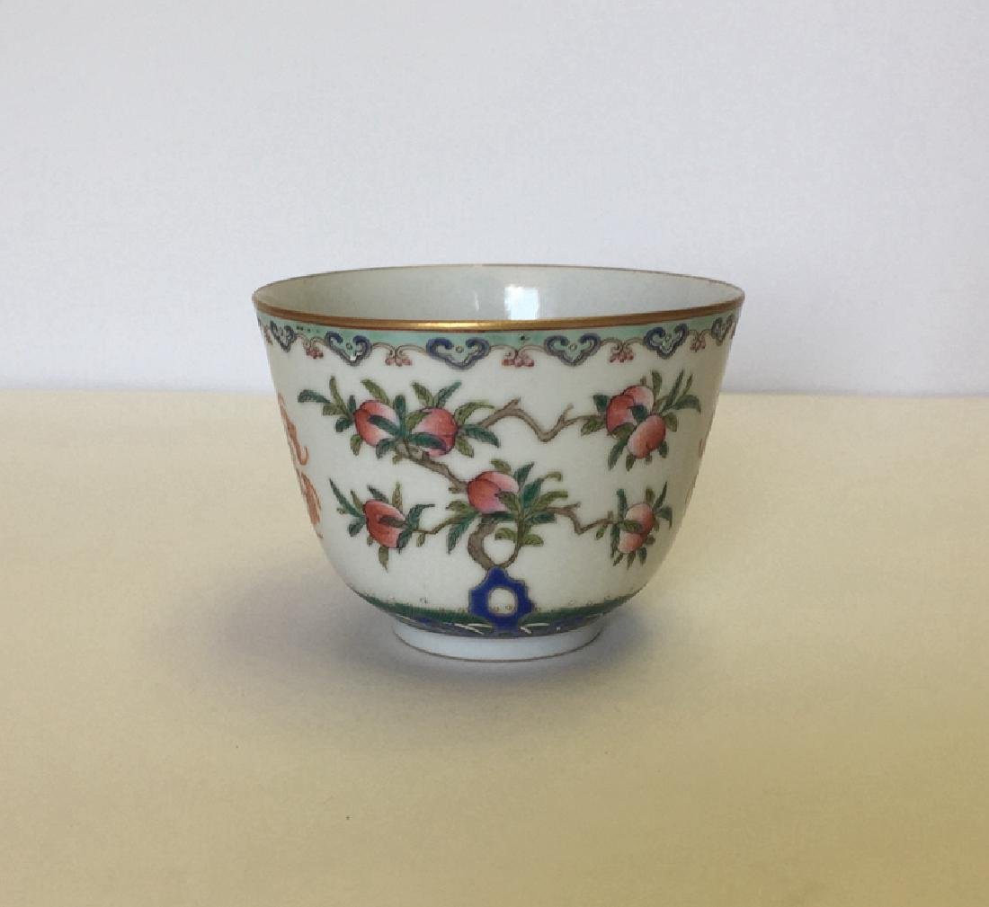 Chines e  Famille Rose Porcelain Cup