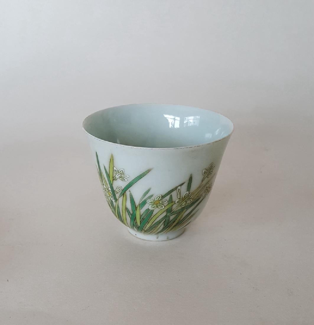 Chines Famille Rose Porcelain Cup
