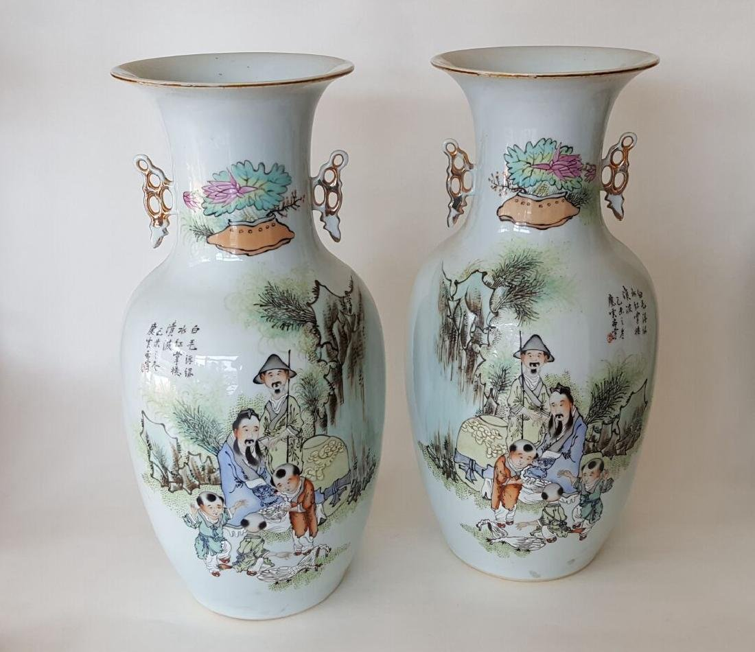 Chinese Porcelain Qianjiang Colour Vases