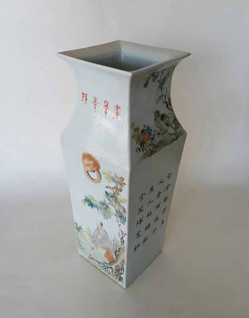 Large Chinese Qiangjiangcai Color Porcelain Vase