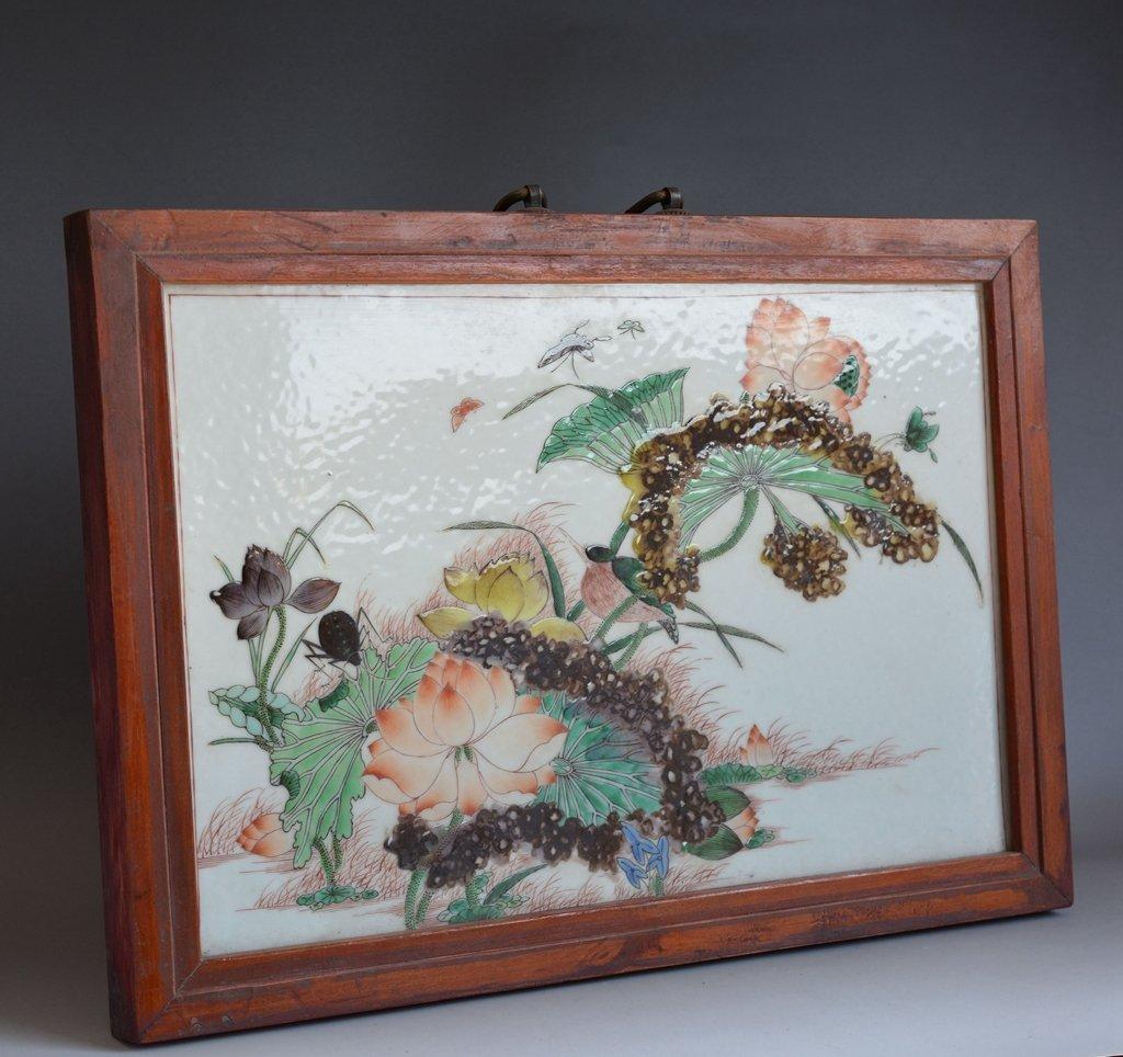 Antique Chinese Porcelain Tile Plaque
