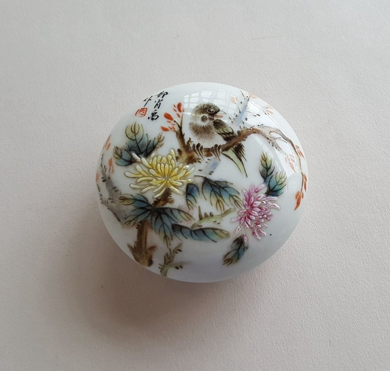Chinese Famille Rose Porcelain Seal Box