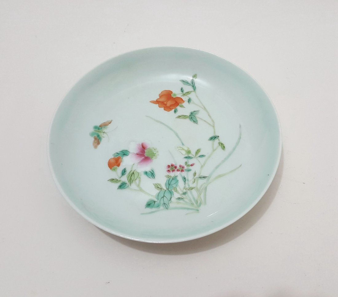 Antique Chinese Porcelain Famille Rose Plate