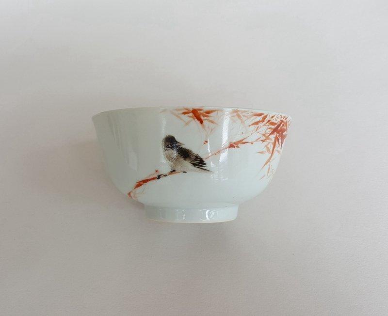 Antique Chinese Famille Rose Porcelain Bowl - 5