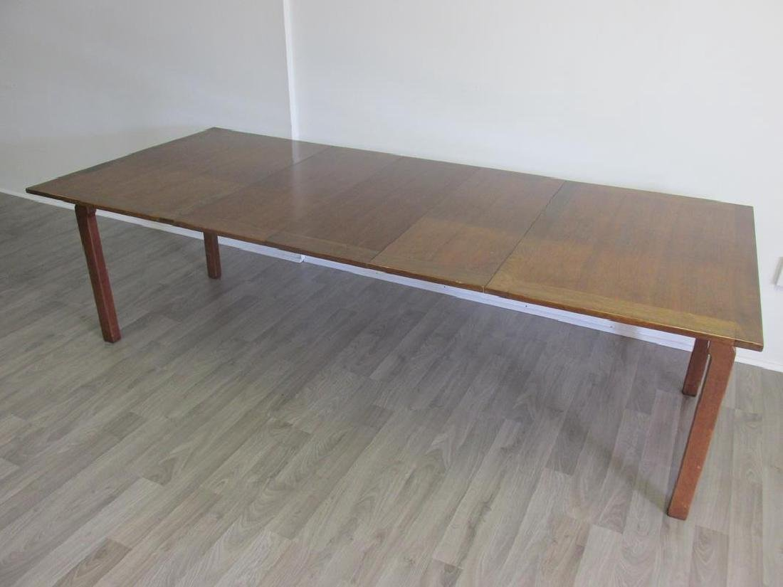 EDWARD WORMLEY FOR DUNBAR DINING TABLE, 3 LEAVES - 5