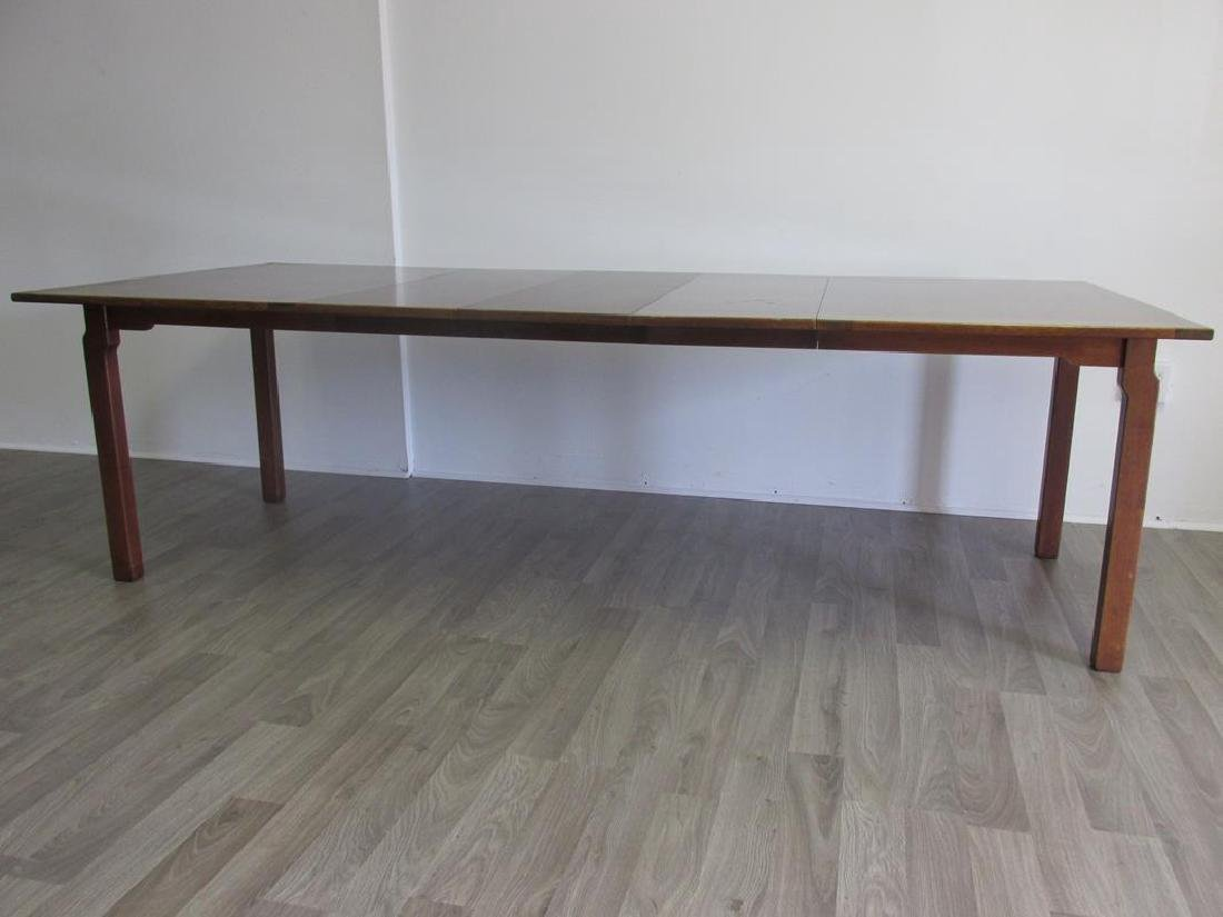 EDWARD WORMLEY FOR DUNBAR DINING TABLE, 3 LEAVES - 6