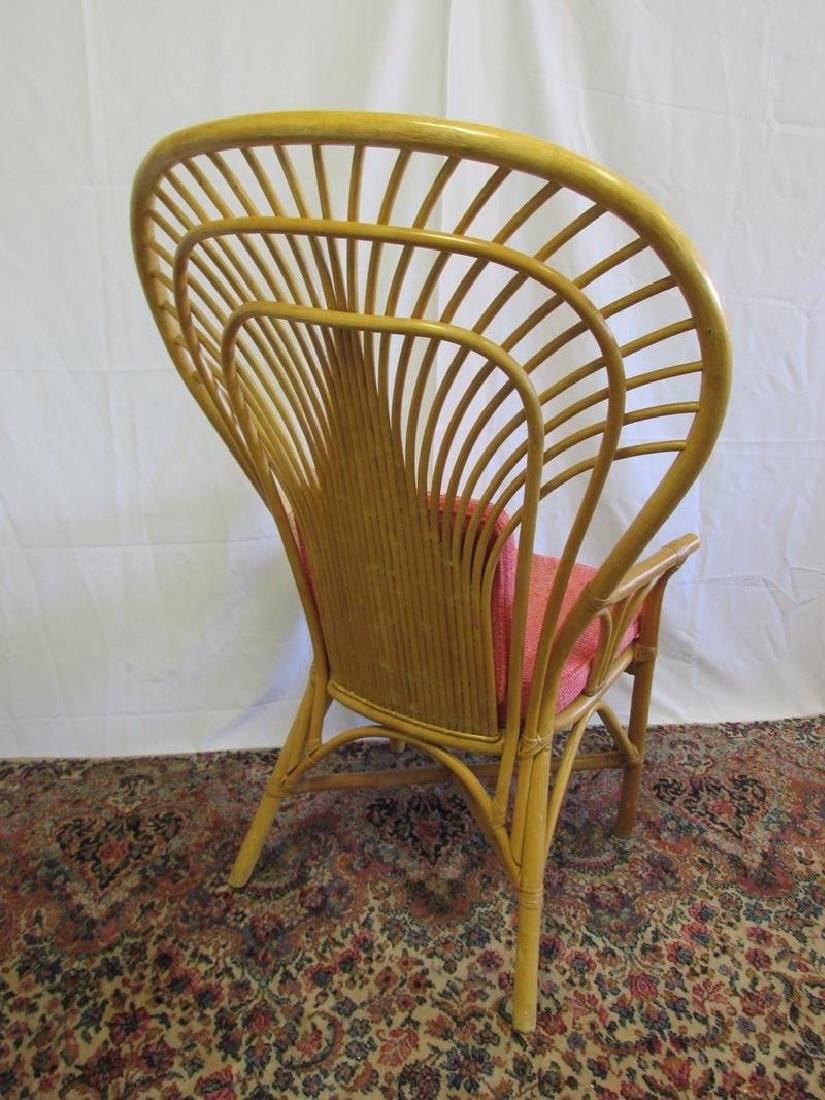 2 LARGE WINGBACK RATTAN CHAIRS - 4