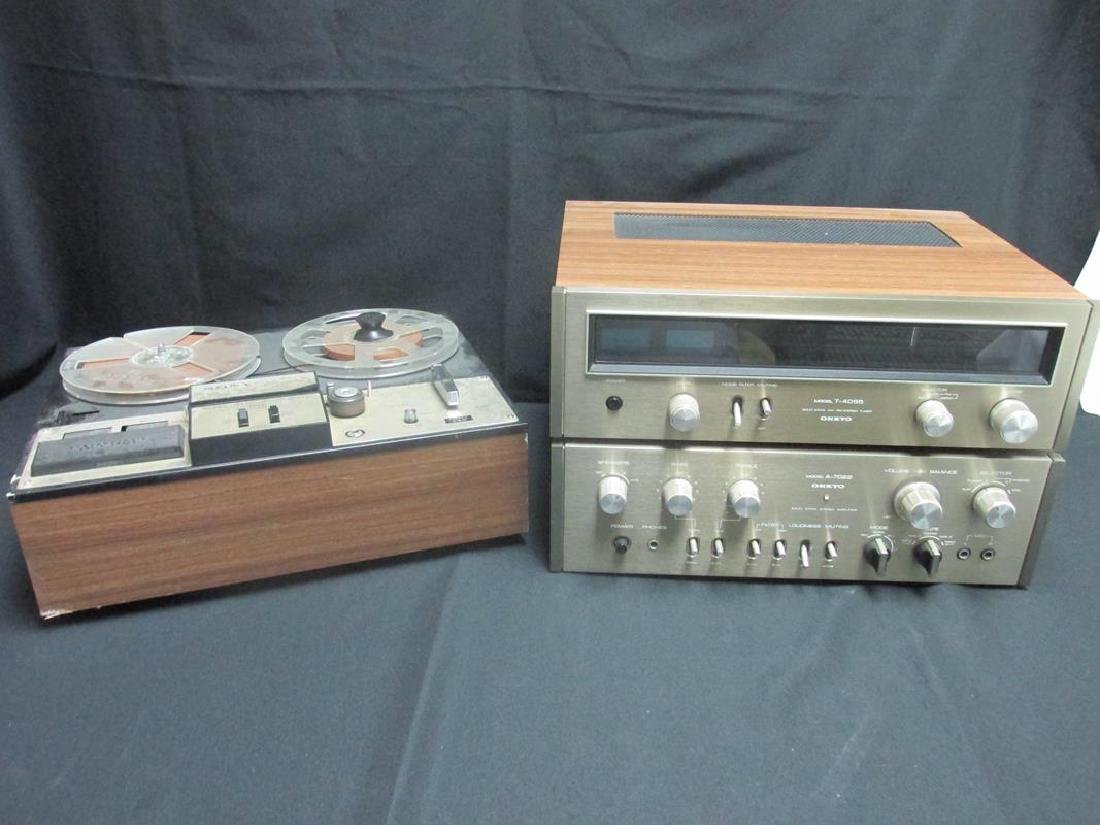 SONY REEL-TO-REEL, VINTAGE ONKYO STEREO SYSTEM