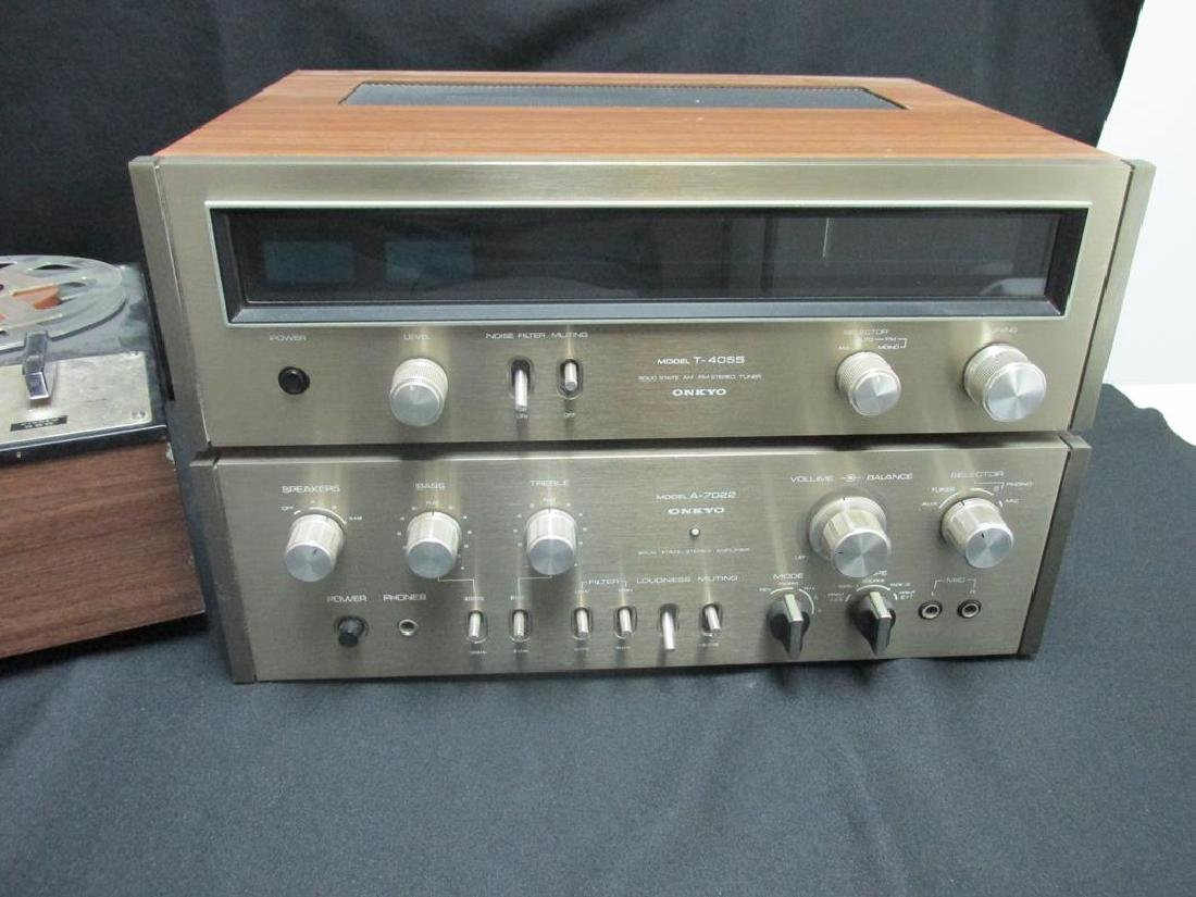 SONY REEL-TO-REEL, VINTAGE ONKYO STEREO SYSTEM - 3