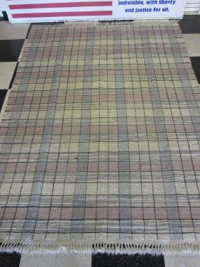 HAND LOOMED FLAT WEAVE RUG, ALL WOOL