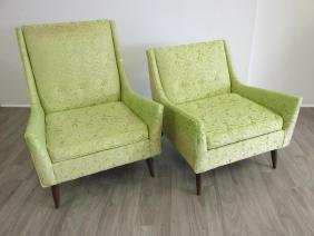 PAUL MCCOBB (ATTR.) HIS & HERS LOUNGE CHAIRS