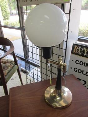 SWING ARM GLOBE TABLE LAMP