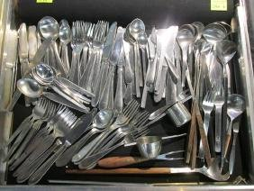 134 PC. MODERN DANISH FLATWARE MIX