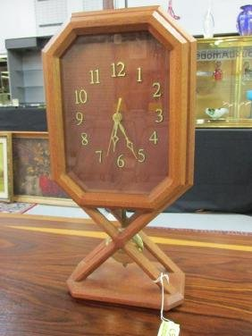 DAVID RATONA TEAK TABLE CLOCK