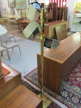 KOCH & LOWY STYLE BRASS FLOOR LAMP