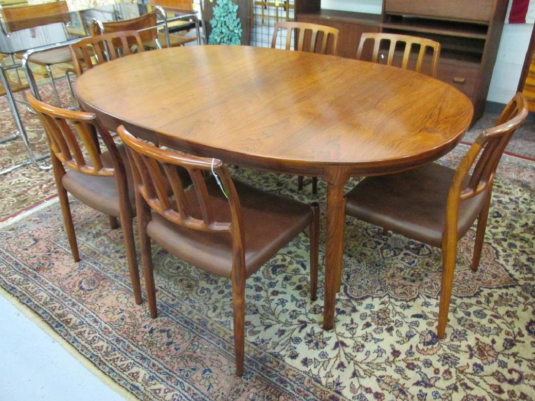 N.O. MOLLER FOR J.L. MOLLER ROSEWOOD DINING TABLE &