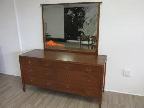 JOHN VAN KOERT FOR DREXEL DOUBLE DRESSER, MIRROR,