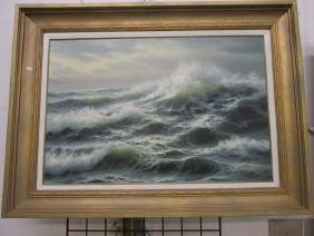 MATT THOMAS SEASCAPE OIL ON CANVAS