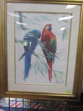 RICHARD WILLIAMS MACAWS PRINT, S/N