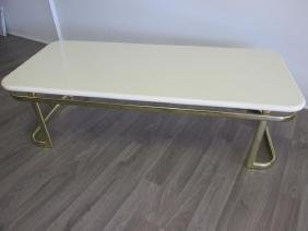 HOLLYWOOD REGENCY FAUX MARBLE TABLE