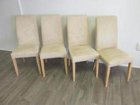 4 MICRO-SUEDE PARSONS CHAIRS