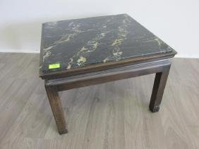 JOHN WIDDICOMB MARBLE TOP TABLE