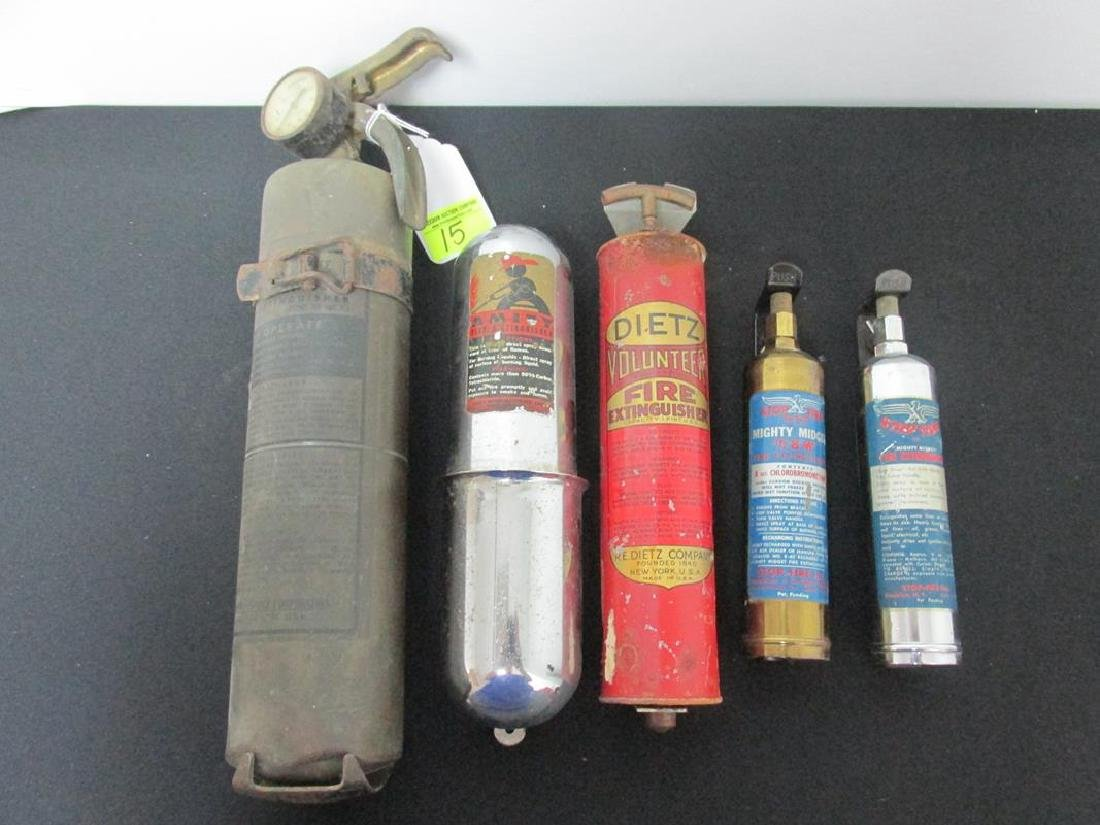 5 PC. HAND HELD FIRE EXTINGUISHERS