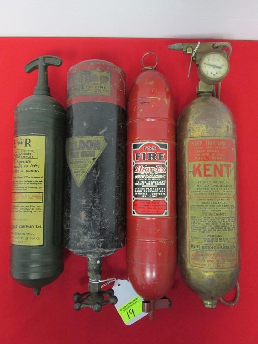 4 FIRE EXTINGUISHERS