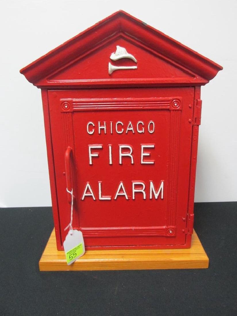 CHICAGO FIRE ALARM BOX, CAST IRON