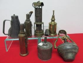 LOT OF VARIOUS TORCHES, LAMPS