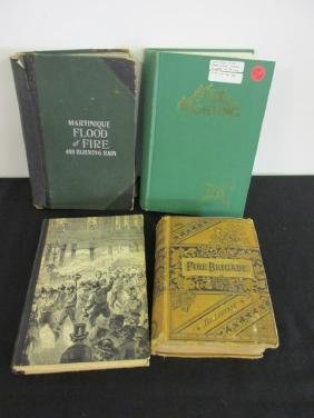 4 ANTIQUE & VINTAGE FIRE RELATED BOOKS