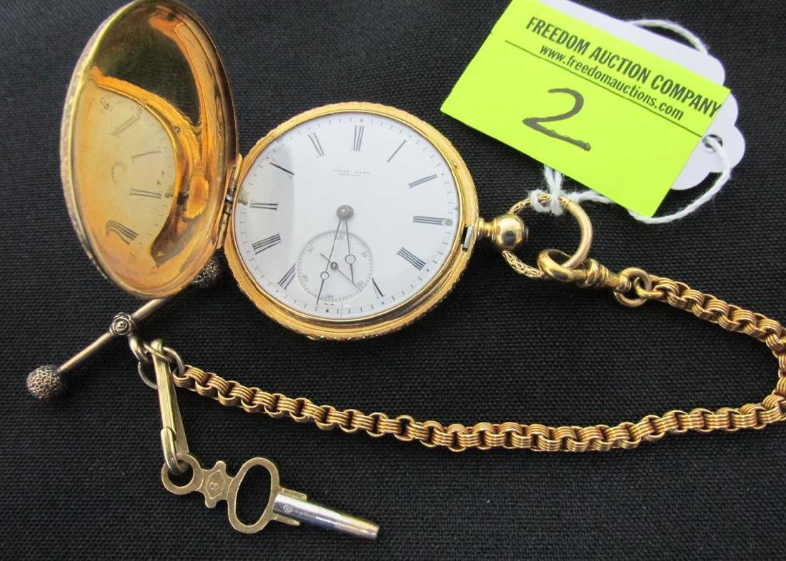 HENRY CAPT 18K YELLOW GOLD POCKETWATCH
