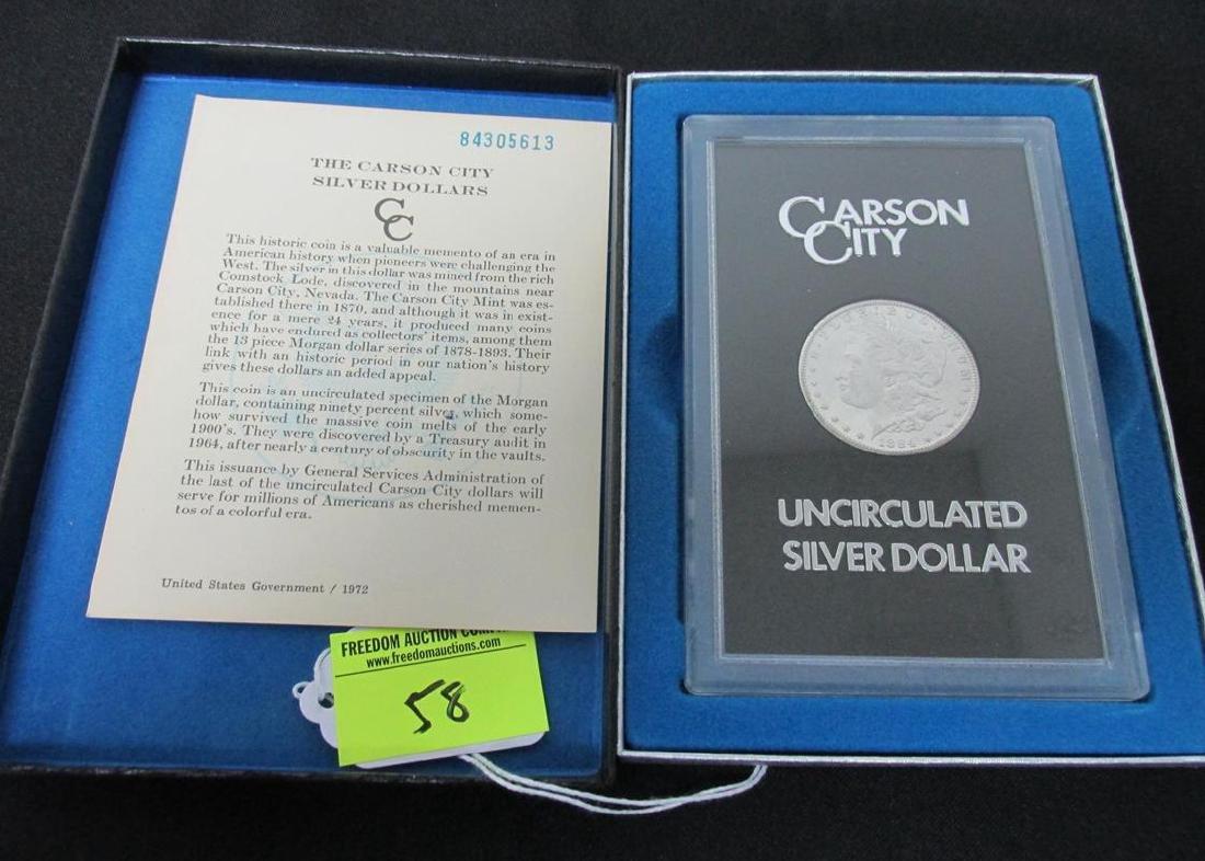 1884 CARSON CITY MORGAN SILVER DOLLAR - GSA