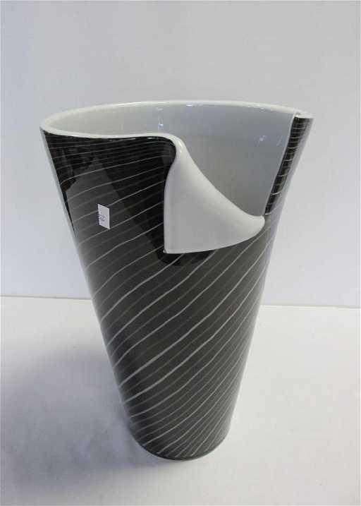 Large Post Modern Murano Vase Attr Alberto Dona