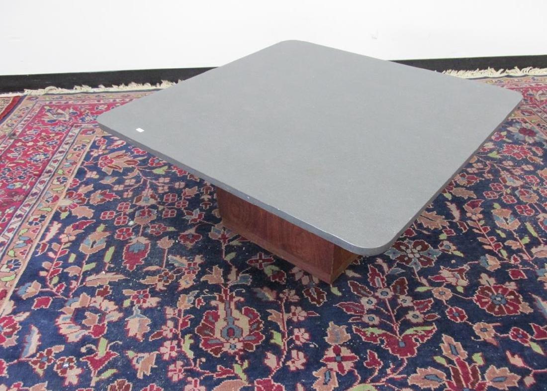 Kemp slate on wood base coffee table fred kemp slate on wood base coffee table geotapseo Image collections