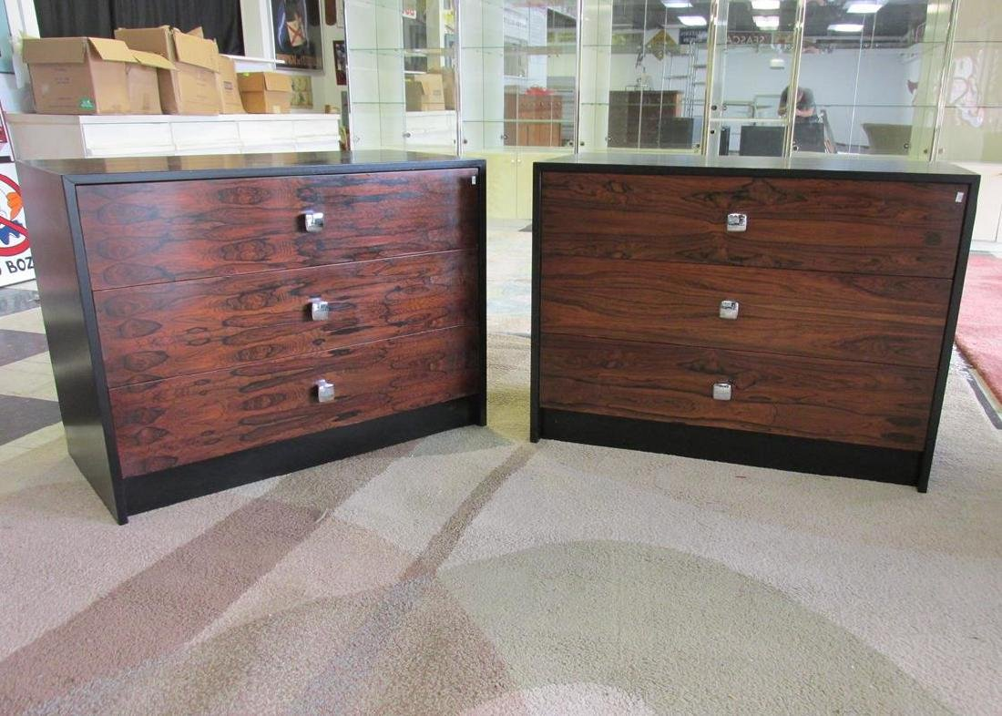 2  ROSEWOOD CHESTS, AFTER MILO BAUGHMAN