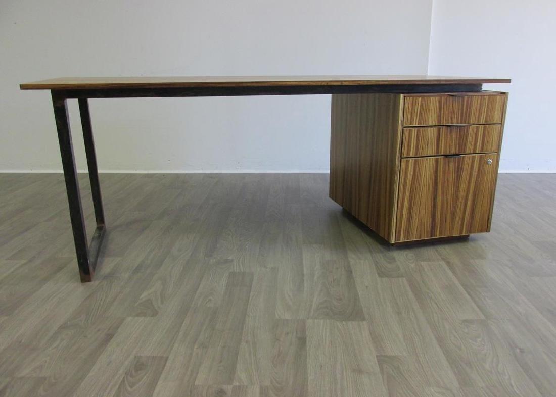 Custom executive desks - Zebra Wood Custom Executive Desk