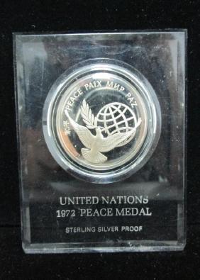 1972 Peace Medal, Sterling Silver Prooof