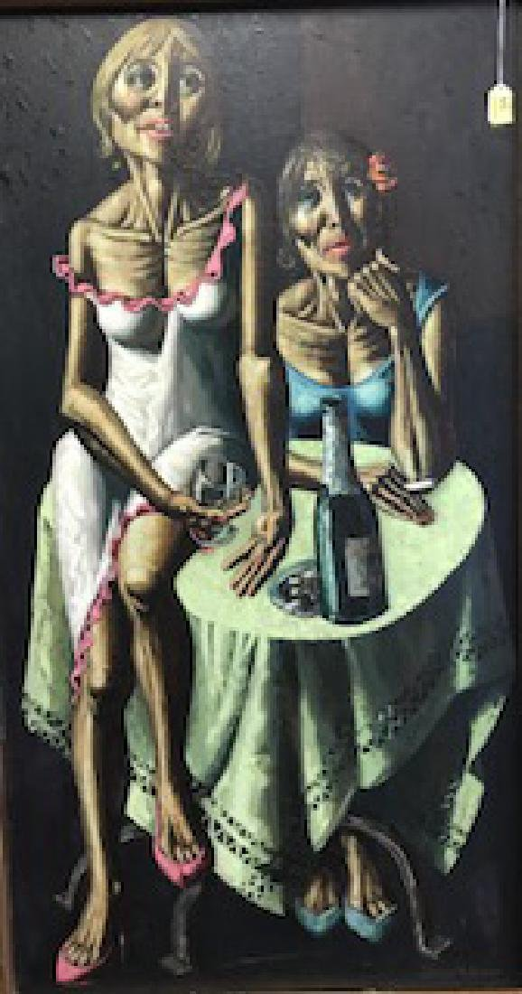 JESUS VILLAR (SPAIN, B. 1930) PORTAIT OF WOMEN