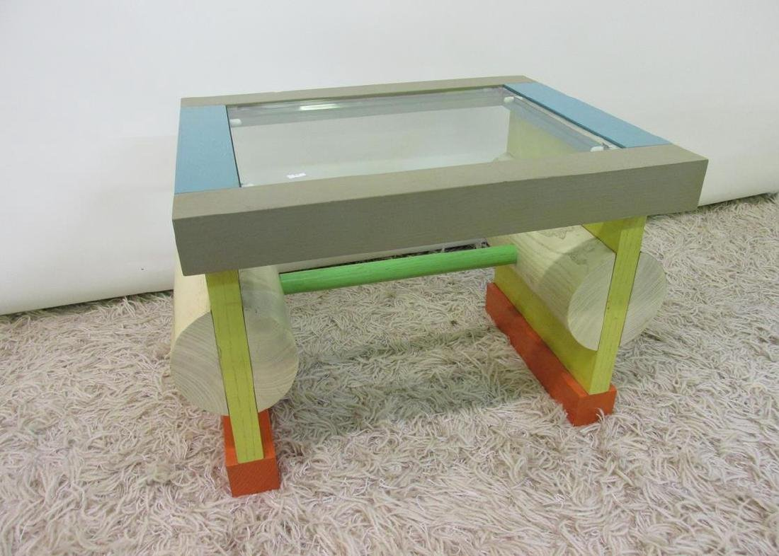 RARE - ETTORE SOTTSASS MEMPHIS SIDE TABLE