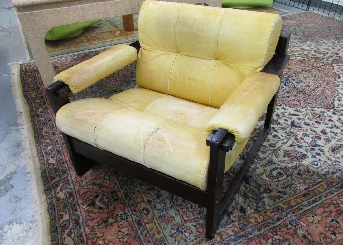 PERCIVAL LAFER LEATHER ROSEWOOD CHAIR
